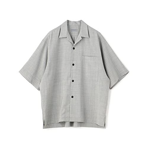 [トゥモローランド] ウール レーヨン オープンカラー 半袖 シャツ メンズ S 13 ライトグレー