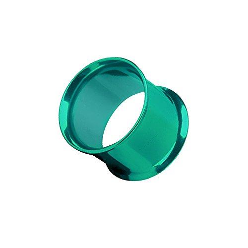 Piercingfaktor Flesh Tunnel Ear Plug Ohr Piercing Tribal Double Flared Plug aus Edelstahl 12mm Grün