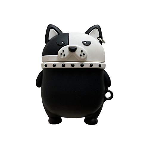 Kopfhörer-Zubehör 3D Cute Cartoon Hund Welpe Headset Hülle für Apple Airpods 1 2 Funny Husky Shar Pei Wireless Earphone Earbuds Cover Charging Box Kopfhörer Schutzhülle (Farbe: B)