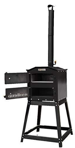 Pizzaofen, Brotbackofen, Flammkuchenofen, Holzbackofen mit Untergestell