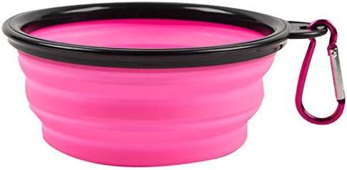 Vabogu Travel Pet Bowl Large 34 oz Pink product image