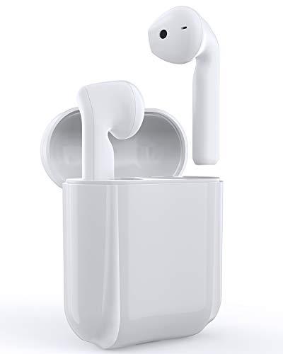 Bluetooth Kopfhörer, Racokky Kabellose Ohrhörer Wireless Kopfhörer 30 Std. Laufzeit mit Berührungssteuerung und Integriertem Mikrofon für Android und iOS, Bluetooth 5.0 Headset mit Typ-C Ladekoffer