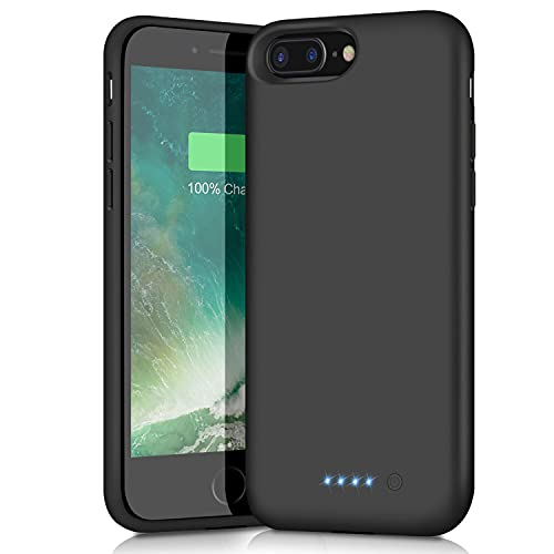 Battery Case for iPhone 8 Plus 7 Plus 6/6s Plus, [8500mAh High Capacity] Protective Portable Charging Case Rechargeable Extended Battery Pack Charger Case for iPhone 6/6s Plus 7 Plus 8 Plus(5.5 inch)