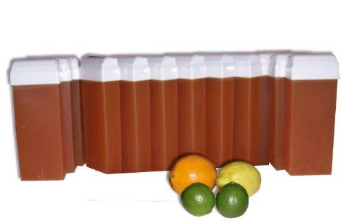 Storepil - 12 recharges 100 ml de cire à épiler - AGRUMES texture MIEL pour épilation