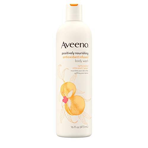 Aveeno Pflegendes Duschgel mit Antioxidantien, weißem Pfirsisch und Ingwer