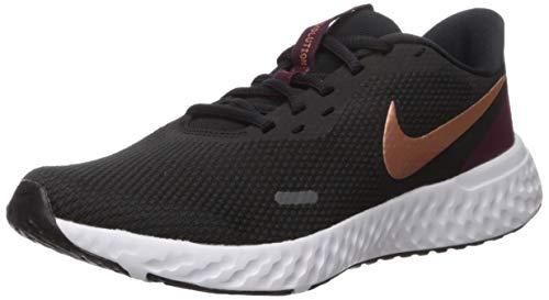 Nike Women's Revolution 5 Running Shoe, Black/Metallic Copper-Night Maroon, 11.5 Regular US