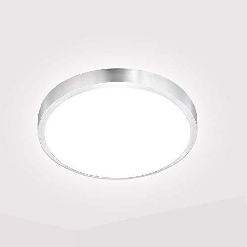 VINGO 15W LED Deckenleuchte, Spritzwasser geschützt, IP44 inkl. 1350lm LED Platine, 3200K neutral weiss, 30cm Durchmesser, Badezimmer