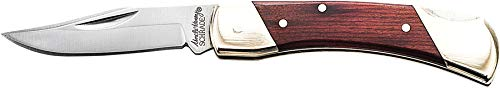 Uncle Henry LB3 Brown Bear 5.1in High Carbon S.S. Folding Knife with a 2.2in Clip Point Blade and Wood Handle for Outdoor Survival, Camping and Hunting