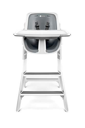4moms high chair Hochstuhl Baby | Kind | magnetisches Tablett | Tisch | Design | weiß grau