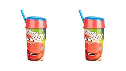 2322; pak 2 Disney Cars snackglazen; capaciteit 400 ml elk; plastic product; Geen BPA