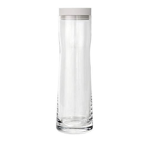 blomus -SPLASH- Wasserkaraffe aus Glas, Moonbeam, 1 Liter Fassungsvermögen, Silikon / Edelstahldeckel, einfache Handhabung, exklusives Design (H / B / T: 29,5 x 9 x 9 cm, Farbe: Moonbeam, 63780)