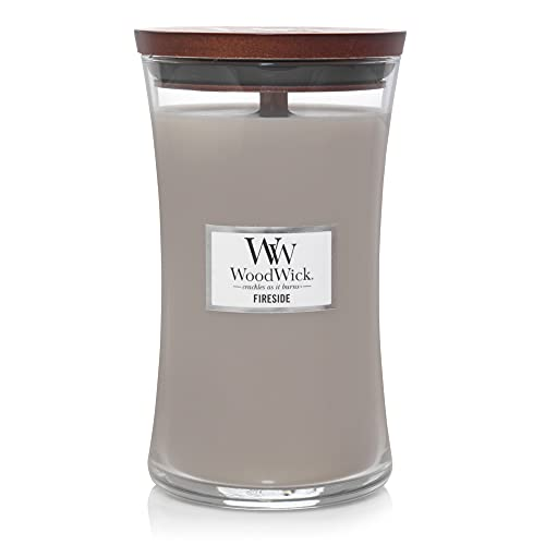 WoodWick Candle Fireside Large Jar, Gray