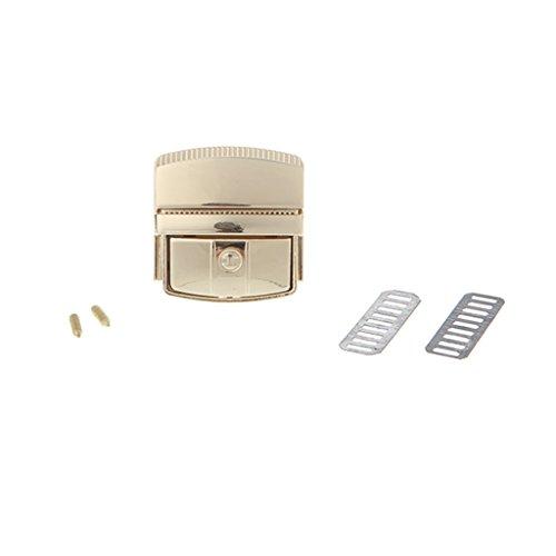 ZZALLL Damen Tasche Zubehör Schnalle Turn Lock Schnappverschlüsse Verschluss für Geldbörse Handtasche - Gold