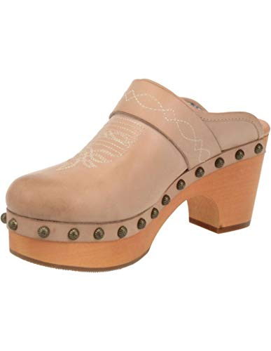 Dingo Fashion Shoes Womens Clog Studded Slip On 10 M Sand DI148