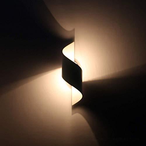 QIULAO Lampada da parete moderna creativa Wave Lampada da parete for camera da letto Lampada da parete in lega di alluminio Luce decorativa Presa E27 Max 40 W for Loft Bar Studio Corridoio Comodino Bi