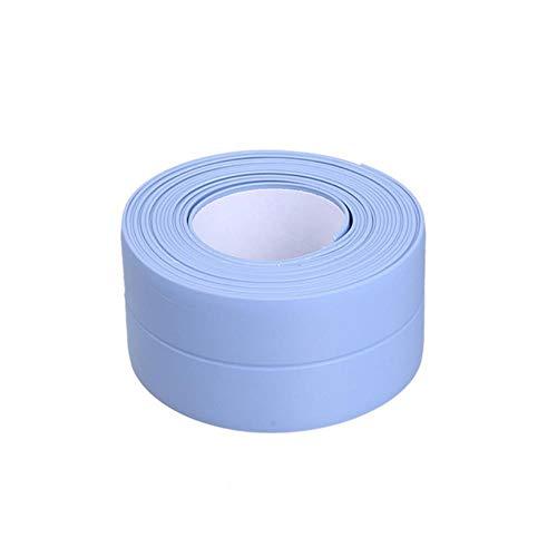 Muur Hoek Afdichtingstape PVC Waterdicht Zelfklevende Tegel Scheur Gootsteen Rand Reparatie Afdichtband Tape Keuken Badkamer Spleetstrip, Blauw-3,2 mx 3,8 cm