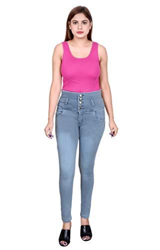 SLKS India Craft Women's Slim Fit 5 Button Denim Jeans...