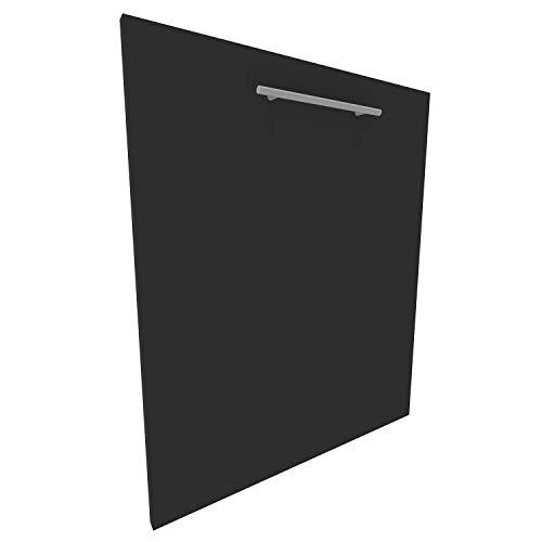 Geschirrspülerfront 16mm voll-, teilintegriert und nach Maß (Graphitschwarz, 594x715mm)