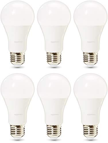AmazonBasics Professional - LED-Leuchtmittel, Edison-Schraubgewinde (E27), entspricht 100-Watt-Birne, Warmweiß, dimmbar, 6 Stück