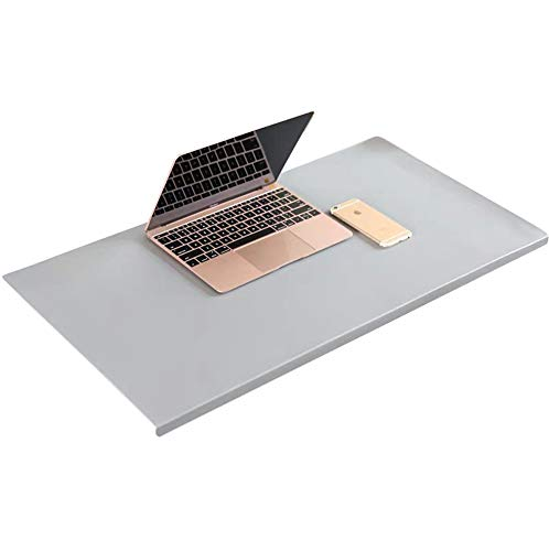 Luxury Leather Desk Pad with Edge Protection,Large Mouse Pad with L-Shaped Front Profile,Non-Slip Writing Mat Laptop Keyboard Pad for Office Home