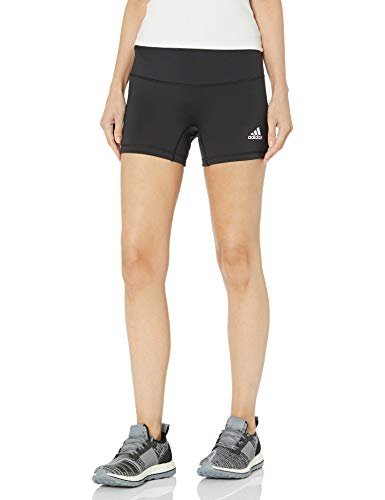 adidas Women's Standard 4 inch Shorts, Black/White, Small