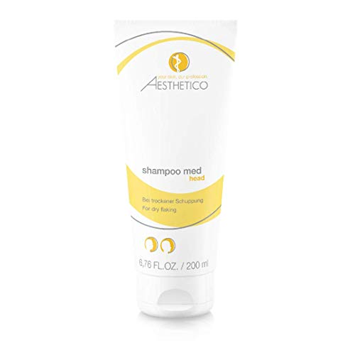 AESTHETICO shampoo med - Medizinisches Anti-Schuppenshampoo für trockene und juckende Kopfhaut, 200 ml