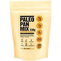Mezcla Proteica de Pan Paleo para Hornear 230 g/Sabor Cúrcuma Orgánica + semillas de Amapola y Calabaza, Sin Gluten Apto para Veganos, Celiacos y diabéticos