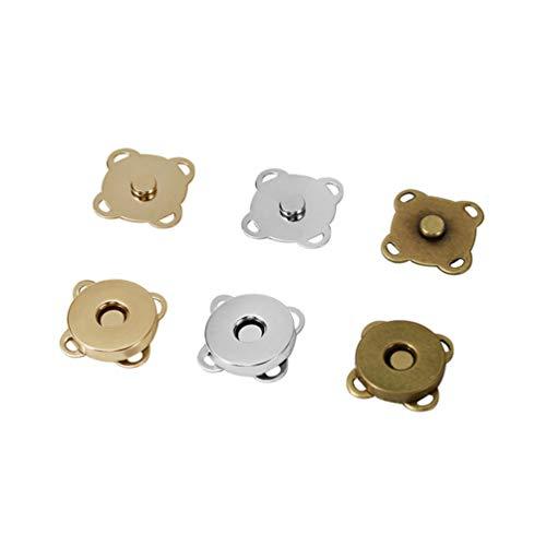 FOMIYES 100 Piezas de Botones Magnéticos a Presión para Coser en Cierre Magnético Plum Blossom Bolsa Broches Cierre Broches para Manualidades Bolsos Bolsos Ropa Artesanía