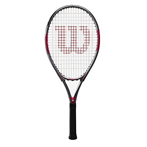 Raquetas De Tenis Individual Absorción De Impactos Ligera Tenis para Principiantes Tenis Profesional Tenis De Fibra De Carbono (Color : Black, Size : 68.5cm)
