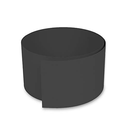 NOOR Zaunblende PVC Easy 1450 g/m2 Anthrazitgrau I 0,19 x 2,55 m I Der ideale Sichtschutz für Ihren Doppelstabmattenzaun I Sichtschutzstreifen in vielen Farben I Witterungsbeständig