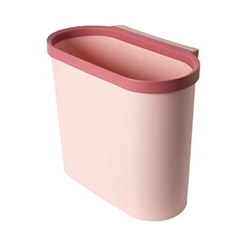 Nobranded Abzieh-Mülleimer für Schranktür, zum Aufhängen, Küche, Küche, Klassifizierung, Korb, Kunststoff, Badezimmer, Wandbehang, Pink, 29,5 x 16,5 x 25,5 cm