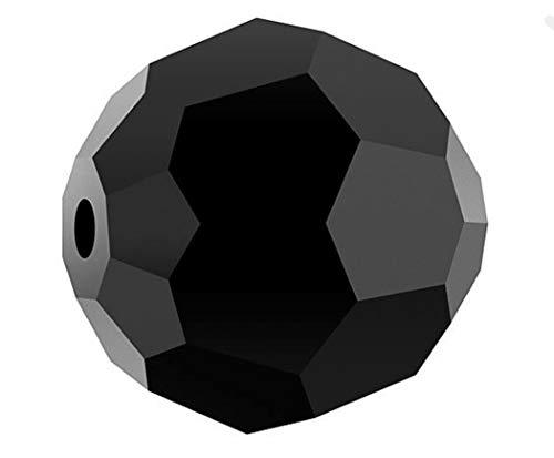 50pcs SWA2Rovski 8mm #5000 Round Jet Black Crystal Beads for Jewelry Craft Making SWA2R823