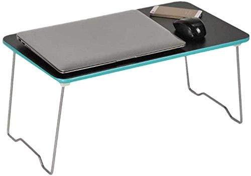 Ordenador portátil Cama Tabla tabla del cuaderno del dormitorio - plegable del escritorio del ordenador portátil Tabla plegable bandeja de la cama multifunción portátil Escritorio -53x30x25cm_Black Bo