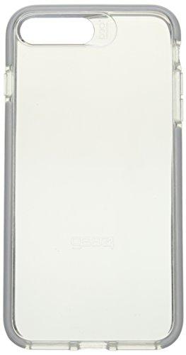 Gear4 Piccadilly Klarsichthülle mit verbessertem Stoßschutz [D3O-geschützt], schlankes, Robustes Design für iPhone 7/8 Plus – Silver