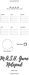 MASH Game Notepad: Small Size | Game With Boxes | 5x8, Nice Cover Glossy, 100 Templates