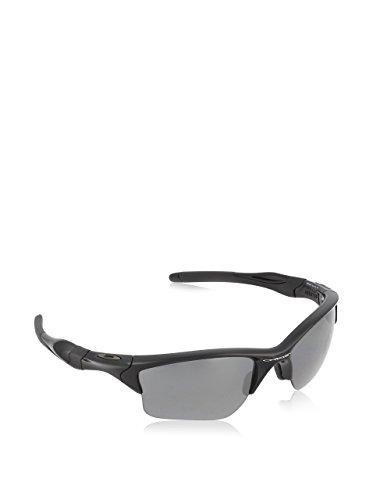 Oakley Herren Half Jacket 2.0 XL 9154 Sole Rechteckig Sonnenbrille, Polished Black/Black Iridium POLARIZED/Black Iridium Polarized (S3)