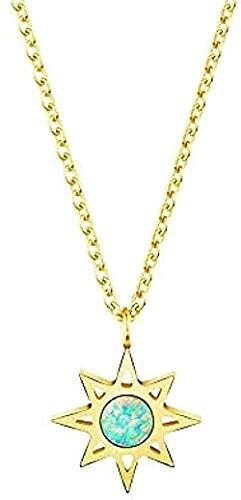 ZPPYMXGZ Co.,ltd Necklace Fashion Shiny Necklace Natural Stone Opal Necklace Star Pendant Necklace Green Color Star Necklace Jewish Necklace Necklace