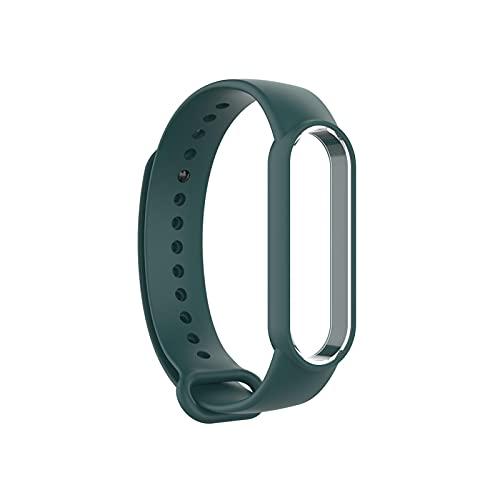 Nuryme Reemplazo de la Banda para MI Band 6 Smart Watch Flexible Soft Silicone Strap Accesorio de Pulsera