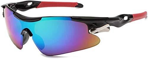 Gafas De Bicicletas Deportes Hombres Gafas De Sol Gafas De Sol Bicicletas Montaña Ciclismo Ciclismo Protección Gafas Gafas Eyewear MTB Bike Gafas De Sol RR7427 Vidrios De Ciclismo (Color: Azul Rojo)
