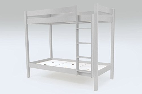 ABC MEUBLES - stapelbed ABC ladder - SUPABCDR90 - grijs aluminium, 90x190