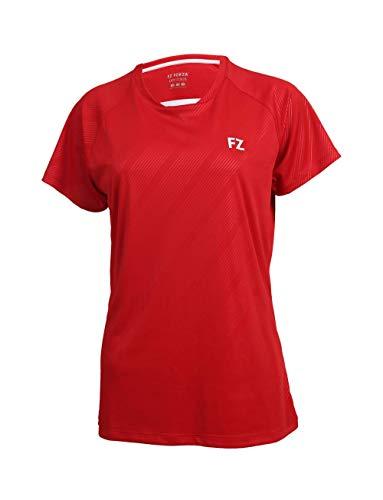 FZ Forza - Sport T-Shirt Hedda - rot, für Damen - geeignet für Fitness, Running, Fußball, Squash, Badminton, Tennis etc. - L