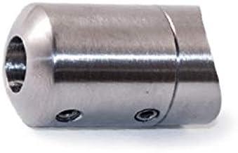 Roestvrijstalen glad inzetstuk rechte afwerking AISI 316 geborsteld voor buiten buis diameter vlak
