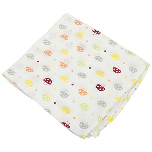 PRETYZOOM Manta de Bebé de Algodón Patrón de Setas Coloridas Manta para Recién Nacido