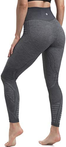 RUNNING GIRL High Waist Seamless Yoga Leggings for Women Tummy Control Laser Cut Out Compression product image