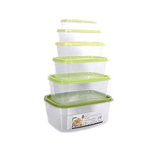 Juego de 6 recipientes herméticos para alimentos   6 tamaños diferentes   Recipientes de plástico con tapa de colores