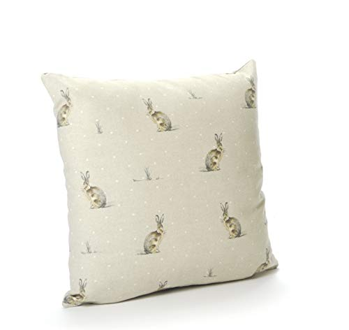 Cotton Animal Hare 16in x 16in Cushion Cover (Reversible)