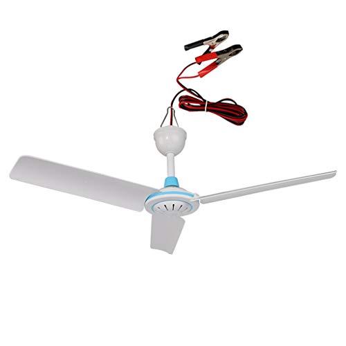 CivilWeaEU DC 12 (V) Outdoor-Camping Deckenventilator/Brise Fan/Reise-Fan/stille kleine Lüfter/energiesparende Deckenventilator