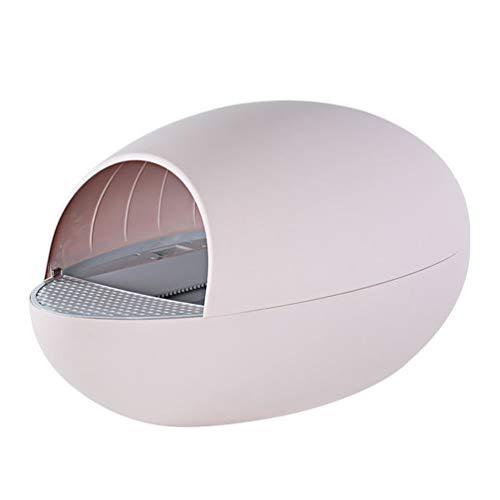 KUANDARYJ Leicht zu Reinigen Elektrisch Katzentoilette, Intelligente Induktion Katzenklo, Modernes Design, Einfach Zu Säubern, Größe: 77 * 46 * 44.5 cm Stark, Pink