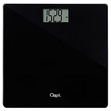 Ozeri Precision Bath Scale (440 lbs/200 kg) in Tempered Glass, with 50 Gram Sensor Technology (0.1 lbs/0.05 kg) and Infant, Pet & Luggage Tare
