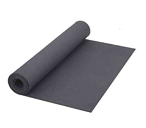 VELLORA Yoga Mat Anti Skid Yogamat for Gym Workout and Flooring Exercise - Long Size Yoga Mate for Men Women (Black-6MM)